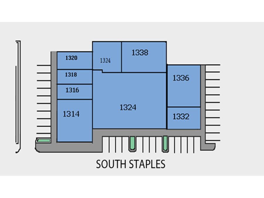 1300 S. Staples 1324 - Property Map